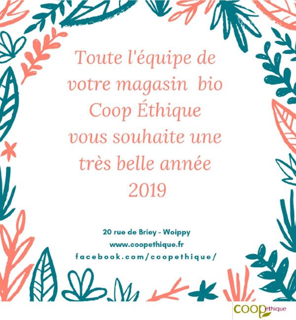 Voeux 2019 Coop éthique, magasin bio
