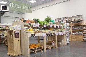 rayon fruits et légumes bio